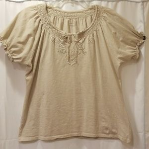 Charter Club Short sleeve blouse Size XL